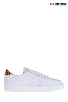 Superga® 2843 Leopard Leather Sports Trainers