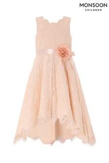 Monsoon Pink Rebecca Hi-Low Dress