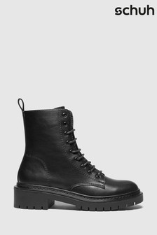 Schuh Black Andy Lace-Up Boots