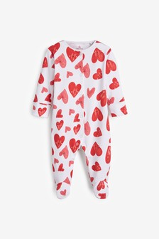 Heart Valentine Sleepsuit (0mths-2yrs)