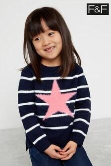 F&F Navy Knitted Star Jumper