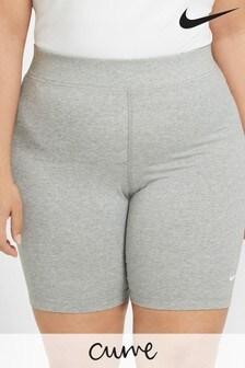Nike Curve Sportswear Essentials Grey Mid Rise Bike Shorts