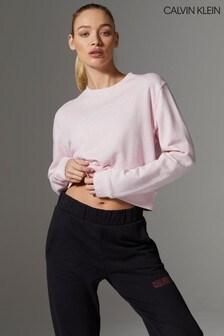 Calvin Klein Pink Branded Sweatshirt
