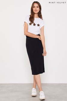 Mint Velvet Contrast Stitch Pencil Skirt