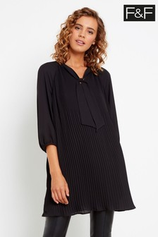 F&F Black Pleated Tunic
