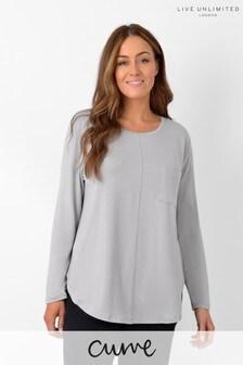 Live Unlimited Curve Grey Pocket T-Shirt