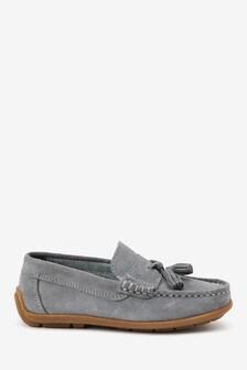 Suede Tassel Loafers (Older)