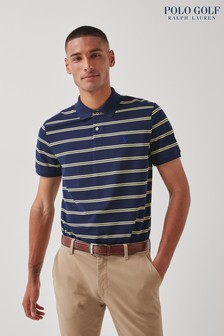Polo Golf by Ralph Lauren Navy Contrast Stripe Short Sleeve Polo