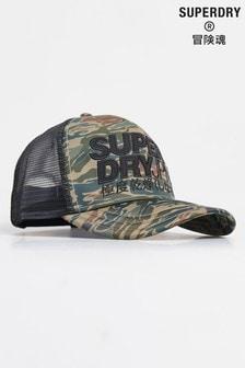Superdry Camouflage Lineman Trucker Cap