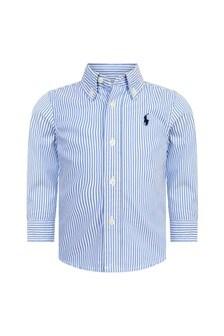 Ralph Lauren Kids Baby Boys Blue Cotton Shirt