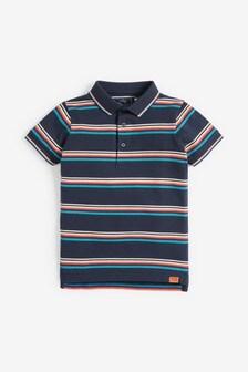Rainbow Stripe Poloshirt (3-16yrs)