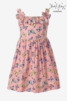 Rachel Riley Pink Butterfly Dress
