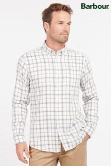 Barbour® White Delamere Tattersall Check Shirt