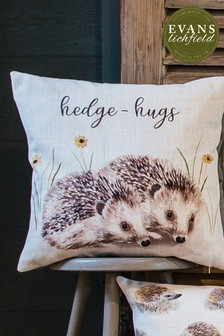 Hand Painted Woodland Cushion by Evans Lichfield