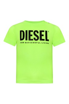 Diesel Baby Boys Green Cotton T-Shirt