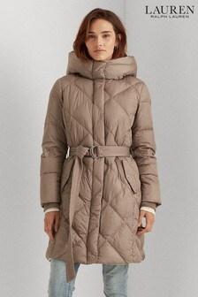 Lauren Ralph Lauren Belted Midi Quilted Coat