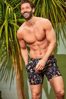 Skeleton Print Swim Shorts