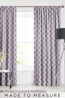 Kendrick Mauve Purple Made To Measure Curtains
