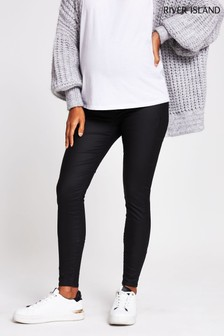 River Island Black Maternity Molly Joyride Overbump Jeans