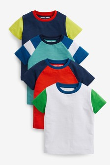 4 Pack Colourblock T-Shirts (3mths-7yrs)