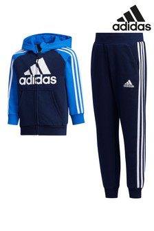 adidas Little Kids Blue/Black Tracksuit