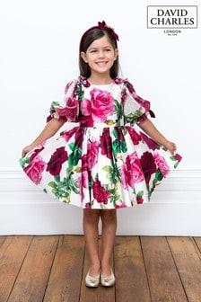David Charles Pink Floral Dress