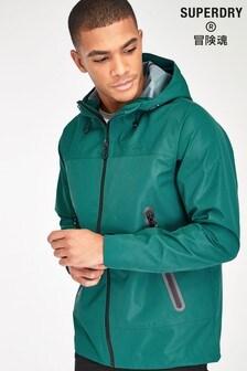 Superdry Green Hybrid Waterproof Jacket