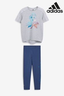 adidas Little Kids Grey Disney™ Frozen Crew And Leggings Set