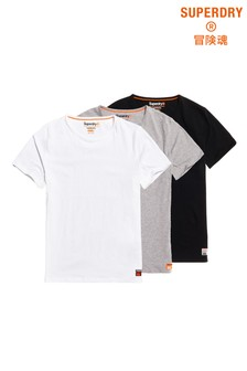 Superdry SD Laundry Organic Cotton T-Shirt Triple Pack