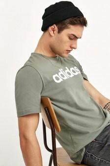 adidas Olive Essentials Linear T-Shirt