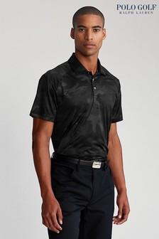 Polo Golf By Ralph Lauren Black Camo Short-Sleeved Polo Shirt