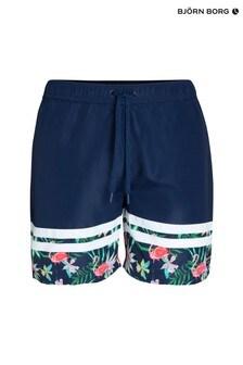 Bjorn Borg Navy Floral Print Swim Shorts