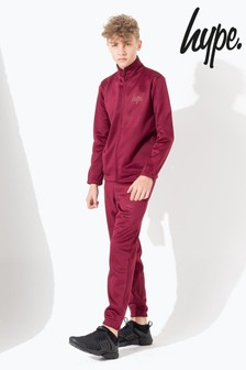 Hype. Burgundy Slim Kids Tracksuit