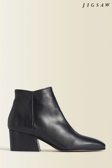 Jigsaw Black Dapper Leather Ankle Boots