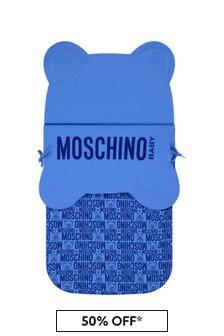 Moschino Kids Baby Boys Blue Cotton Nest