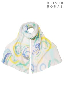 Oliver Bonas Abstract Swirl Scarf