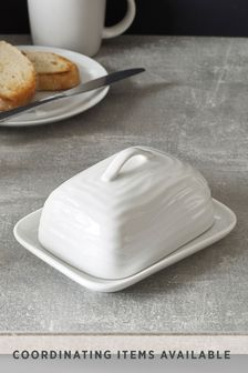 Malvern Embossed Butter Dish