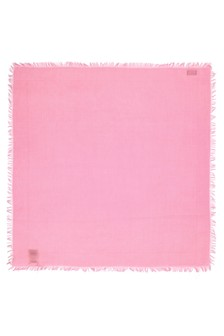 Girls Pink Cotton Shawl