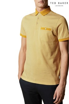 Ted Baker Sculpt Geo Print Polo Top