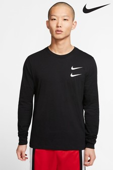 Nike langärmliges T-Shirt mit Swoosh-Logo