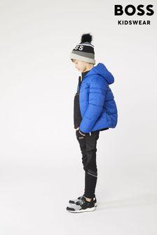 BOSS Blue Logo Puffer Jacket