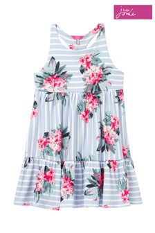 Joules Blue Juno Tiered Dress