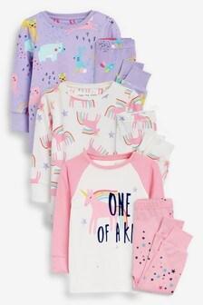 3 Pack Unicorn Snuggle Pyjamas (9mths-8yrs)