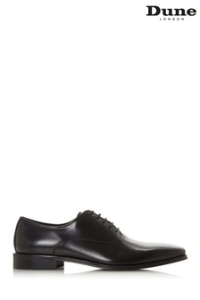 Dune Men's Black Chisel Toe Oxford