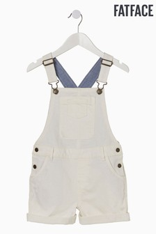 Fat Face Natural Coloured Shortie Dungarees