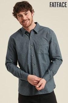 FatFace Blue Hawkley Print Shirt