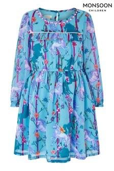 Monsoon Multi S.E.W Nella Unicorn Dress