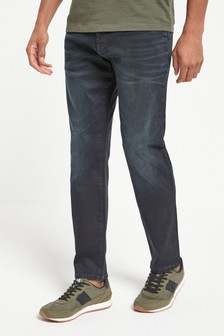 Black Blue Slim Fit Jeans
