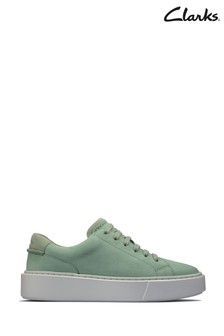 Clarks Mint Suede Hero Lite Lace Trainers