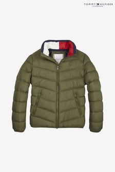 Tommy Hilfiger Green Lightweight Down Jacket